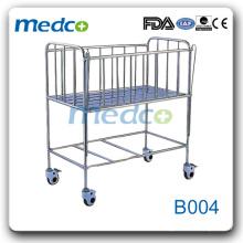 Hôpital en acier inoxydable Lit bébé (lit bébé) B004