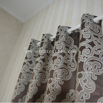 ? Novo tecido Vivid Design Curtain Chocolate GF024-4