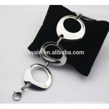 Pulseira de aço inoxidável 316L pulseiras de cadeia grande