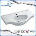 Lavabo semi-empotrado del lavabo de la mano del lavabo del gabinete de cerámica (ACB4491)