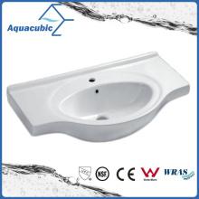 Полувстроенные шкаф ванной комнаты Керамическая раковина умывальника (ACB4491)