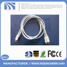 1m 3ft USB Type C 3.1 to Type C 3.1 Data Sync Charging Cable for Macbook phone