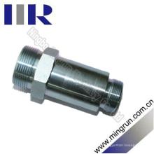 Adaptador hidráulico métrico tipo mordedura macho con longitud extra (1CH-L)