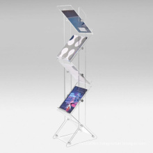 Zig Zag Acrylic Brochure Display Stand