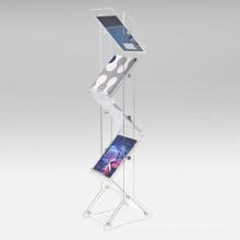 Zig Zag Acrylic Brochure Display Stand