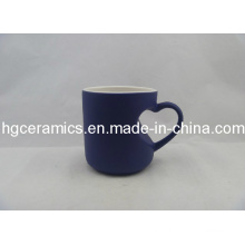Heart Handle Color Change Mug Blue