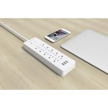 ORICO USP-10A3U-US Supresores de sobretensión de escritorio 10 * AC + 3 * cargador USB protector de sobretensión de banda de alimentación