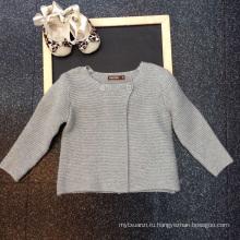 фиолетовый новорожденных девочек 1-летняя 2-летняя зимняя одежда новая модель коллекция горячие продажа детские кофты, зимние модели, кардиганы