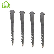 Ground earth screw anchor untuk pos tanda jalan