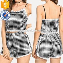 Recorte de encaje facturado con pantalones cortos Fabricación al por mayor de prendas de vestir de mujer de moda (TA4097SS)