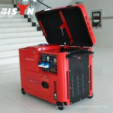 BISON CHINA TaiZhou 6.5kw Тихий тип ISO9001 CE Дизельный генератор человека