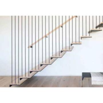 Escaliers flottants en verre d'escalier en bois en acier interne