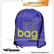 70d nylon Drawstring Shoe Swim Bag Backpack