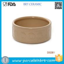 Круглая Форма Портативный Китайский Handamde Керамическая Миска Для Собаки