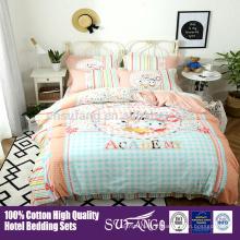 Ensemble de literie de lit de bébé de bébé de 100% coton / ensembles de literie de conception personnalisée de haute qality