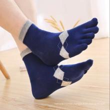 High Quality Men's Crew 5 Finger Running Sport Socks Toe Five Fingers Sock