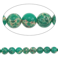 2015 Gets.com 4-6-8-10-12-14mm many colors, round Natural Picture Jasper Beads