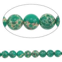 2015 Gets.com 4-6-8-10-12-14mm muitas cores, redondo Natural Picture Jasper Beads