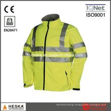 Hivis Softshell Waterproof Breathable Jacket