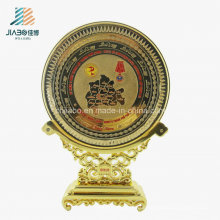 Customize Wholesale Metal Gold Casting Army Enamel Commemorate Tray