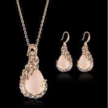 Women Jewellry Gold Peacock Jewelry Sets