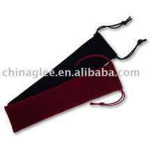 promotion velvet pen pouch with string