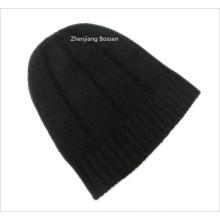 Promocional personalizado negro sólido esquí de snowboard invierno de acrílico Beanie Slouchy Beanie