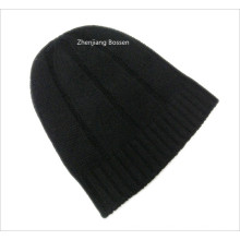 Promotional Customized Solid Black Snowboard Ski Winter Acrylic Beanie Slouchy Beanie