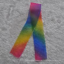 Suave cinta de seda para la decoración