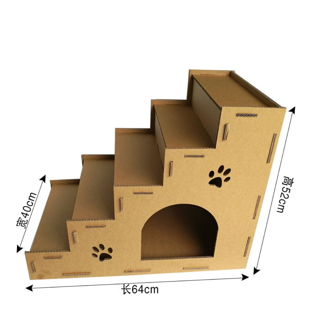 Recyclable Cardboard Cat House Scratcher