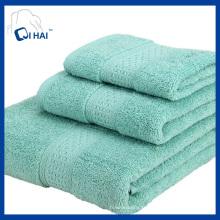 Ensembles de serviettes de 100% de coton pur (QHS88767)