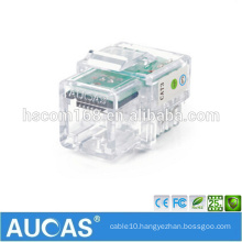 RJ11 voice telephone 6p4c module / systimax 4 pin male connector female jack