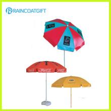 Hochwertiges 210t Oxford kundenspezifisches Firmenzeichen Gedrucktes Strand-Regenschirm-Werbungs-Regenschirm-im Freienregenschirm