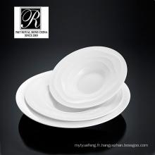 Hôtel ligne océan mode élégance porcelaine blanche soupe bol saladier PT-T0594