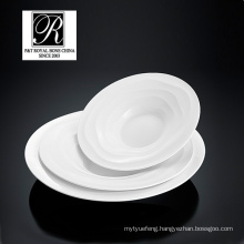 hotel ocean line fashion elegance white porcelain soup bowl salad bowl PT-T0594