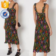 Neue Mode Multi Floral Strap Plissee Maxi Kleid Herstellung Großhandel Mode Frauen Bekleidung (TA5306D)