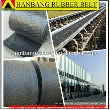 Chevron conveyor belt EP500/5PLY5+3