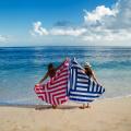 Chiffon Runde Strand Handtuchdecke