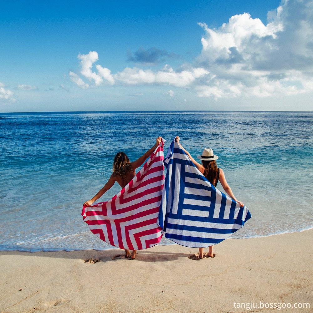 round beach towel blanket