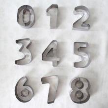 Custom Number and Letter Shape Cookie Cutters