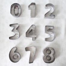 Cortadores de biscoito de número e letra personalizados