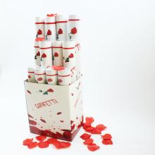 Popper de festa de alta qualidade novo produto com pétala de rosa vermelha para casamento
