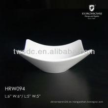 Set de bowl de porcelana directo de fábrica, juego de bowl de porcelana con tapa