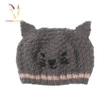 Crianças Animal Design malha bebê inverno chapéu