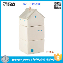 Creative House Container Ceramic Food Storage Box