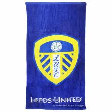 100% algodón Leeds United lema cómodas toallas de playa
