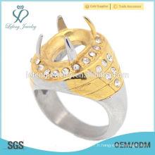 Indonésie cincin vente chaude indonésie anneau en acier inoxydable sans pierre pour hommes