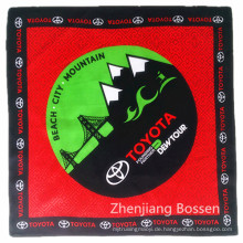 OEM produzieren kundengebundenes Logo Gedrucktes förderndes Baumwollhip Hop-Sport-Kopfverpackung Bandana