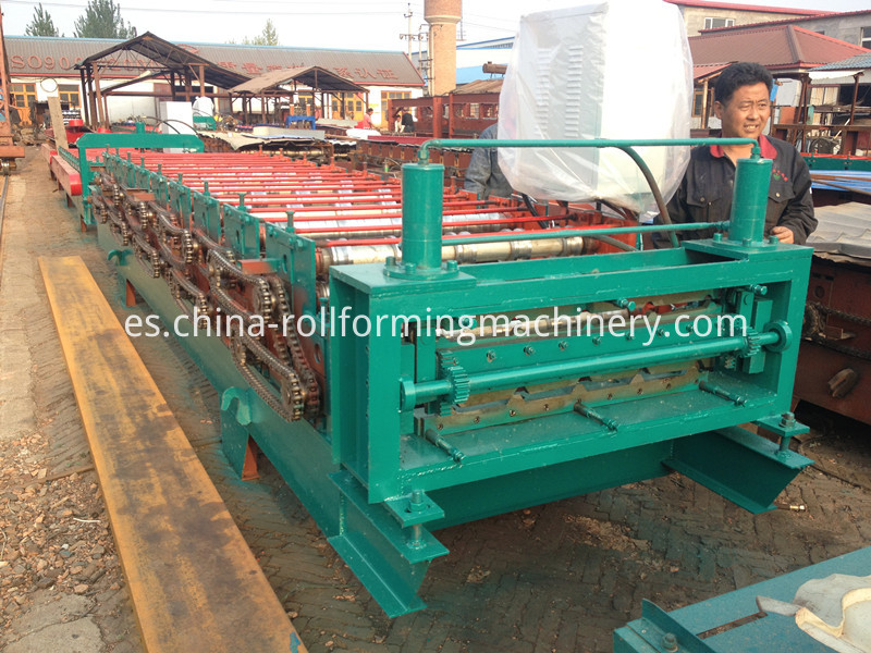 840/900 double layer roofing sheet roll forming machine