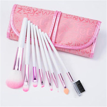 8PCS Pink Color Synthetic Hair Makeup Brushes Set